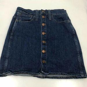 Madewell Womens Short Denim Skirt Button Front